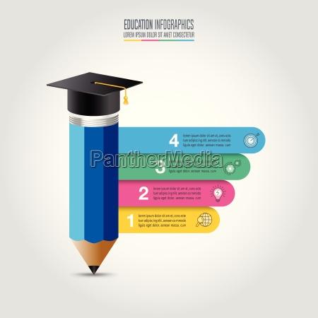 formazione infografica template opzione 4 step
