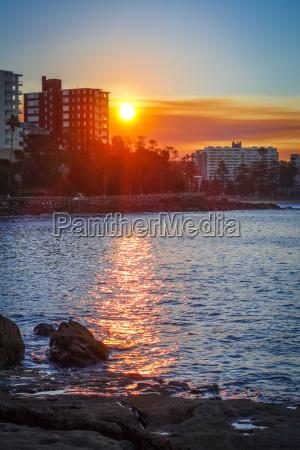 tramonto riva del mare spiaggia australia