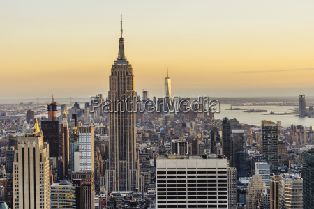 empire state building and one world