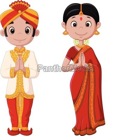 tradizionale costume divertente indiano tramandato convenzionale