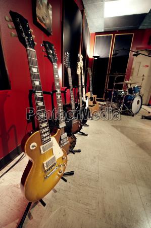 chitarre in studio musicale