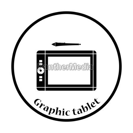 graphic tablet icon vector illustration