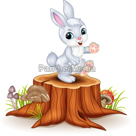 albero in piedi coniglio divertente posto