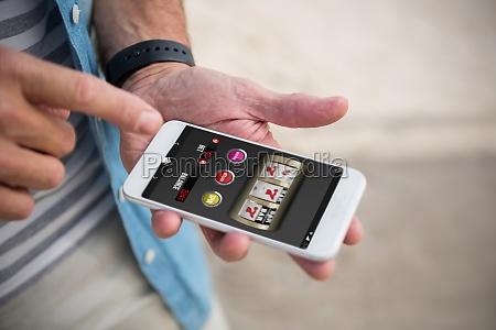 telefono cellulare primo piano close up
