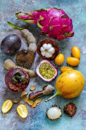 natura morta alcuni interno colorato frutta
