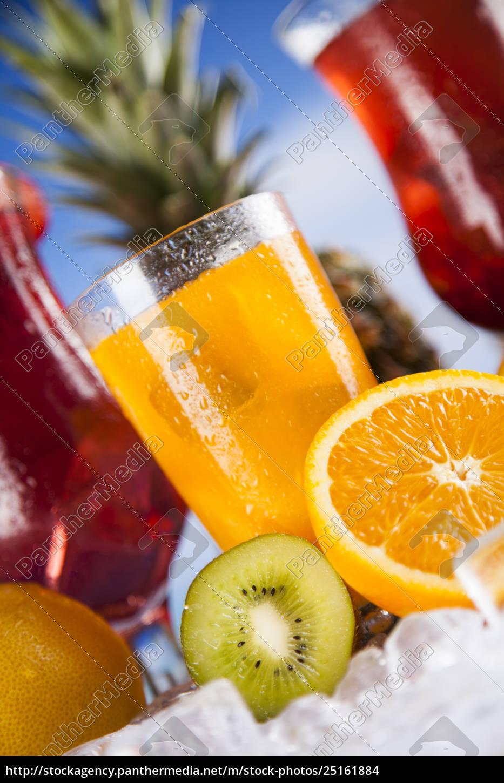 bevanda, estiva, ramo, di, palma, e, frutta - 25161884