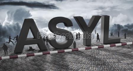 simbolico inaccessibile tipografia illustrazione confine barriera