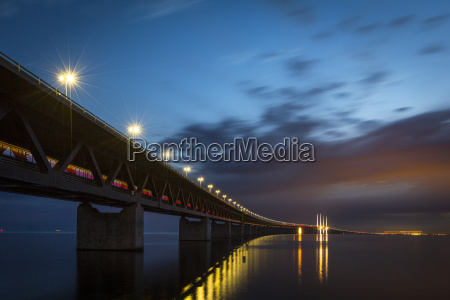 oresundbrucke oresundsbroen il ponte strallato piu