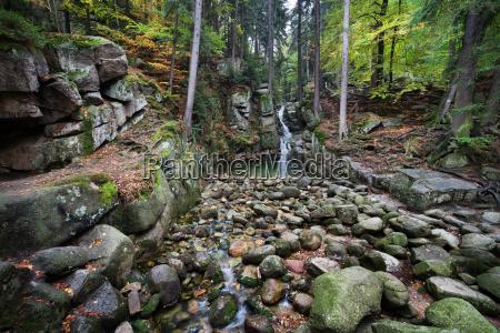 cascata polonia paesaggio natura cadute