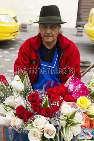 fornitore del fiore sulla plaza de