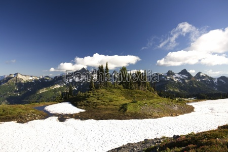montagne tatoosh in stagione sprong mt