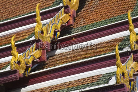 hor phra naga roof at royal