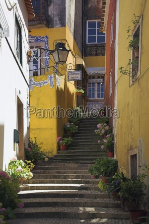 steps through alleyway sintra portugal