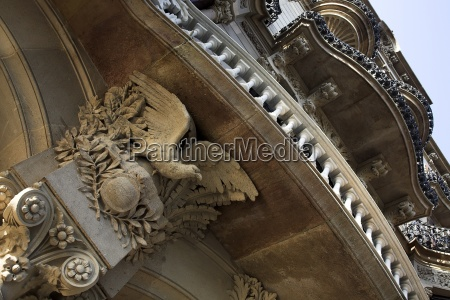 low angle view of ornate balcony