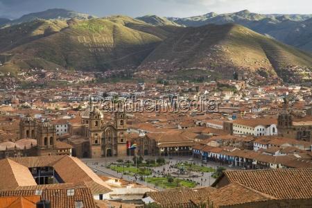 rooftops of plaza de armas in