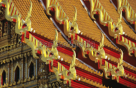 thailand close up of colorful wat