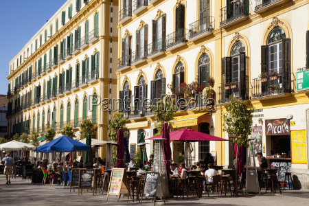 outdoor cafe at the plaza de