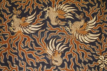 tessuto indonesiano antico del batik sul