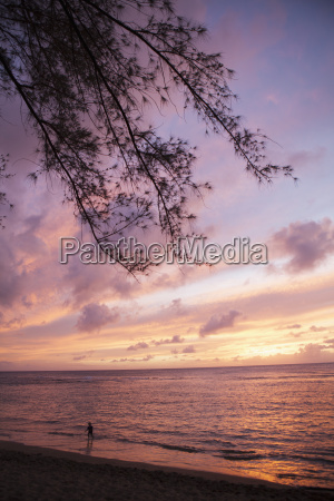 sunset over water kee beach at