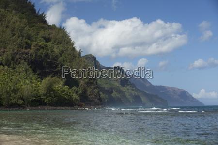 kee beach and water at haena