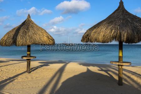 beach palapas at palm beach with