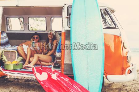 beach lifestyle beautiful young surfer girls