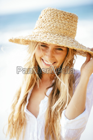 fashion lifestyle portrait of beautiful happy