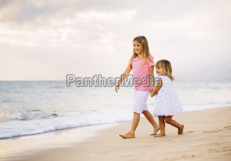 adorable young sisters two little girls