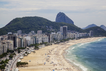 copacabana from above looking towards sugarloaf