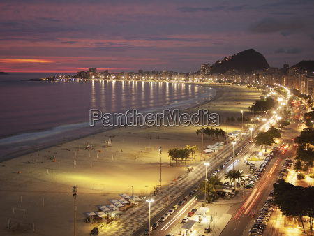 copacabana beach and avenue atlantica in