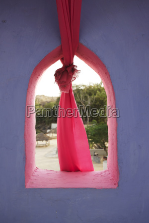 colourful traditional rajasthani window detail with
