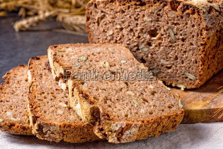 cibo pane bio primo piano legno