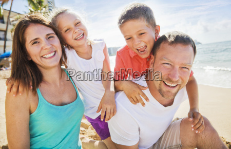 portrait of a family of four