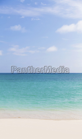 landscape of a white sandy beach