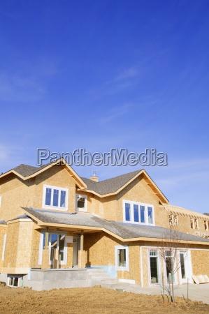 blu casa costruzione bicchiere raggiungere costruire