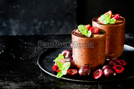 bicchiere cibo dolce marrone nero frutta