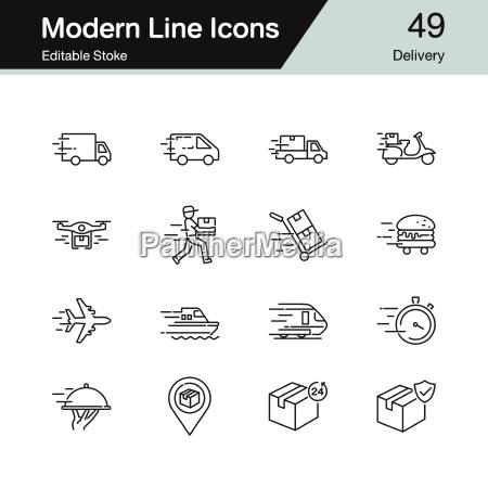 icone di consegna design di linea