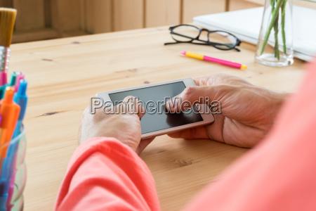orange, t-shirt, uomo, d'affari, chat, orizzontale - 25777051