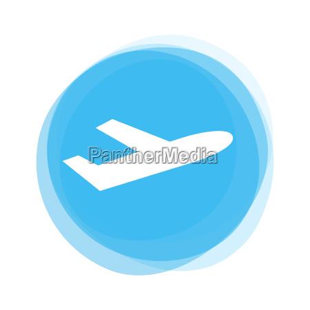 light blue button plane
