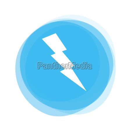 light blue button flash
