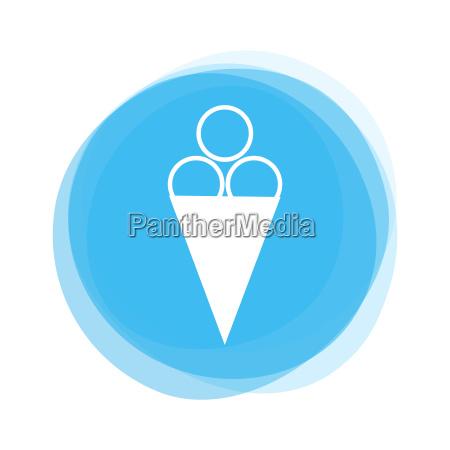 light blue button ice