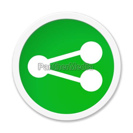 rotondo isolato pulsante verde condividi icona