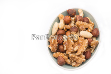 mix of nuts isolated on a