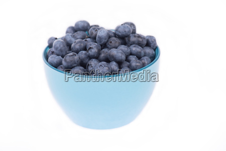 fresh blueberries isolated on a white