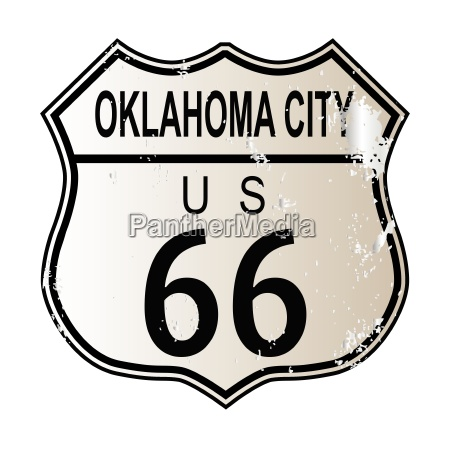 oklahoma city route 66 sign
