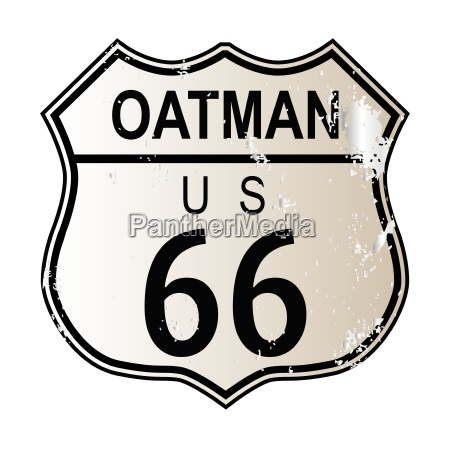 oatman route 66 sign