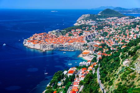 veduta aerea di dubrovnik in croazia
