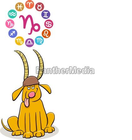 cane astrologia illustrazione segno zodiacale zodiaco