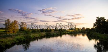 beauty autumn sunset on the hunter