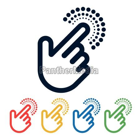 segnale ok dito rilasciato progettazione concetto